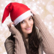 Beautiful Christmas Girl with Happy Smile — Stock Photo