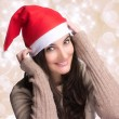 Beauty Christmas Girl with Happy Smile — Stock Photo #36375437