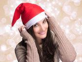 Beautiful Christmas Girl with Happy Smile — Stock Photo