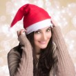 Beauty Christmas Girl with Happy Smile — Stock Photo
