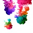 Stock Photo: Raoinbow of Acrylic Ink in Water. Color Explosion