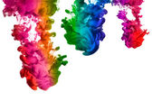 Rainbow of Acrylic Ink in Water. Color Explosion — Stock Photo
