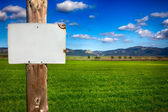 Rural Informative Post Empty. Message — Stock Photo