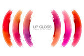 Color Swatches of Lip Gloss — Stock Photo