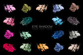 Color Swatches. Set of eye shadow — Stock Photo