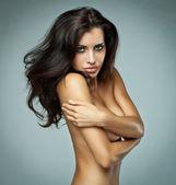 Ritratto di bella donna bruna — Foto Stock