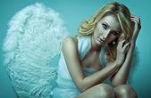 Beautiful blonde angel — Stock Photo