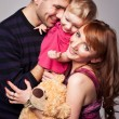 Stock Photo: Portrait of playful family