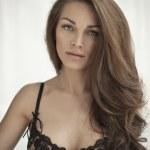 Portrait of beautiful brunette woman — Stock Photo #23313182