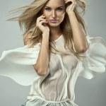 Portrait of a blond beauty — Stock Photo