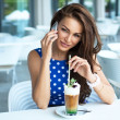 Attractive woman talking on mobile phone — Stock Photo
