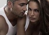 Retrato de pareja atractiva — Foto de Stock