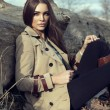 Stock Photo: Fashion womoutdoor