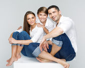 Portrait of a happy family — Foto Stock