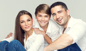 Attractive happy family — Foto Stock