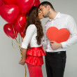 Valentines photo of kissing couple — Stock Photo #39198967