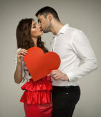Sexy couple kissing each other — Stock Photo