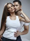 Beautiful sensual couple — Stock Photo