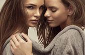 Beautiful portrait of young women — Stock Photo