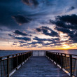 Backlit Pier during Sunset — Stock Photo