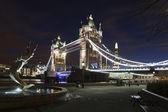 Tower Bridge by night — Stock Photo