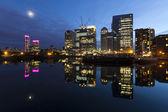 Canary Wharf at dusk, London — Stock Photo