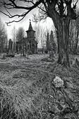 Destroyed old cemetery — Stock Photo
