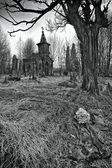 Zničil starý hřbitov — Stock fotografie
