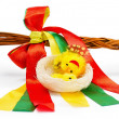 Whip with colored ribbons — Stok fotoğraf