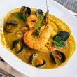 Fish soup - bouillabaisse - Stock Photo
