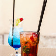 Stock Photo: Summer drinks