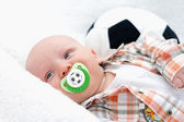Little chap with a pacifier — Stock Photo