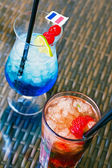 Summer drinks from above — Stockfoto