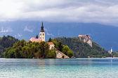 Kilise adası bled gölü  — Stok fotoğraf