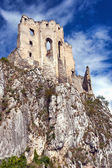 The ruins of the chapel of the castle Beckov — Stock Photo