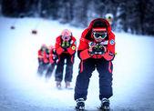 Sky slalom — Stock Photo