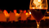 Glass of Red Wine in Restaurant — Stock Photo