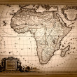 Vintage Map of Africa — Stock Photo