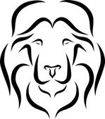 Lion Head Icon — Wektor stockowy
