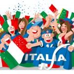 ITALY SOCCER FANS — Stock Vector #24200083