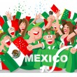 Stock Vector: MEXICO SOCCER FANS