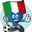 Italy heart — Stock Vector