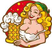 Oktoberfest girl — Stock Vector