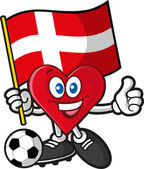 Soccer heart — Stock Vector