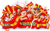 Spain Soccer Fans — Stock Vector