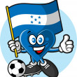 Honduras soccer fan — Stock Vector