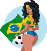 Soccer fans — Stock Vector