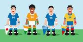 Times de futebol — Vetorial Stock