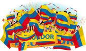 Fãs de futebol do equador — Vetorial Stock