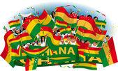 Ghana Soccer fans — Vector de stock